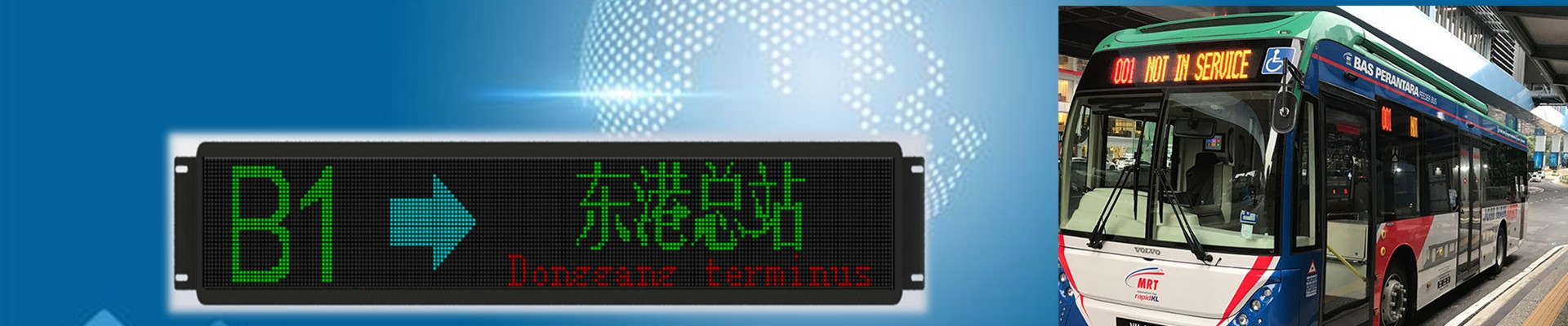 Bus route destination display sign manufacturer
