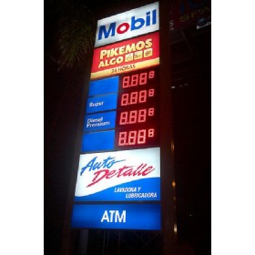15 inch LED Gas Price Signs(last digit smaller)