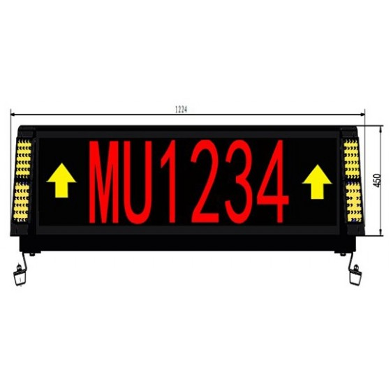 Two Sided Airport Guidance LED Signs